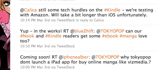 TokyoPop eManga Tweets