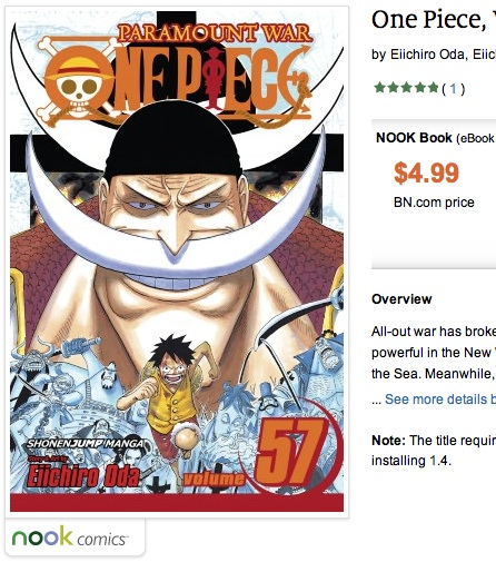 One Piece on the Nook Tablet
