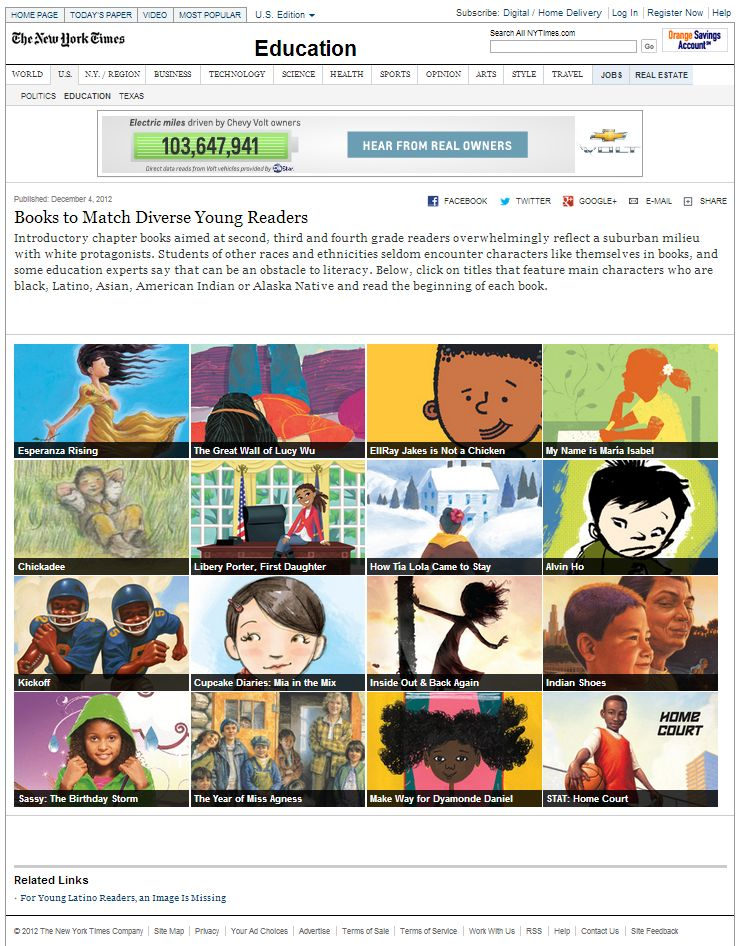 NYT Books to Match Diverse Young Readers