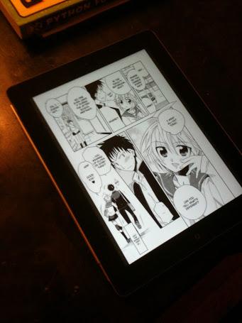 eManga on iPad